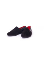 Black Suede Slip-On