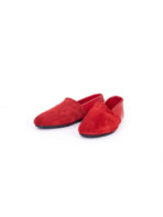 Red Suede Slip-On
