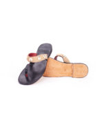 Raffia Thong Sandals with Cowries